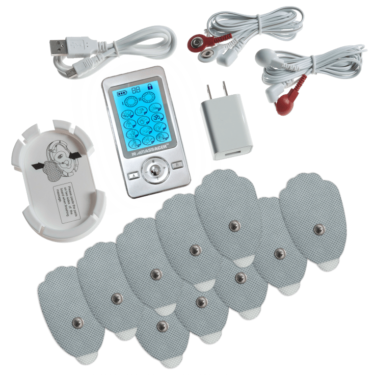 iQ Technologies Pro V 12-Mode EMS Tens Unit with 10 Pads