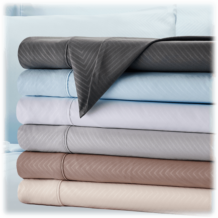 Kathy Ireland 4 Piece Chevron Embossed Sheet Set