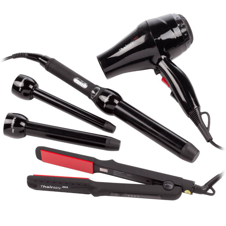 Thairapy365 Bundle: Infrared Dryer Interchangeable Curler Set
