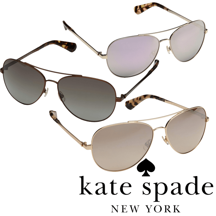 Ladies Coral Pink Gold Gradient Oval Sunglasses in Hard Case Powder Design Adele