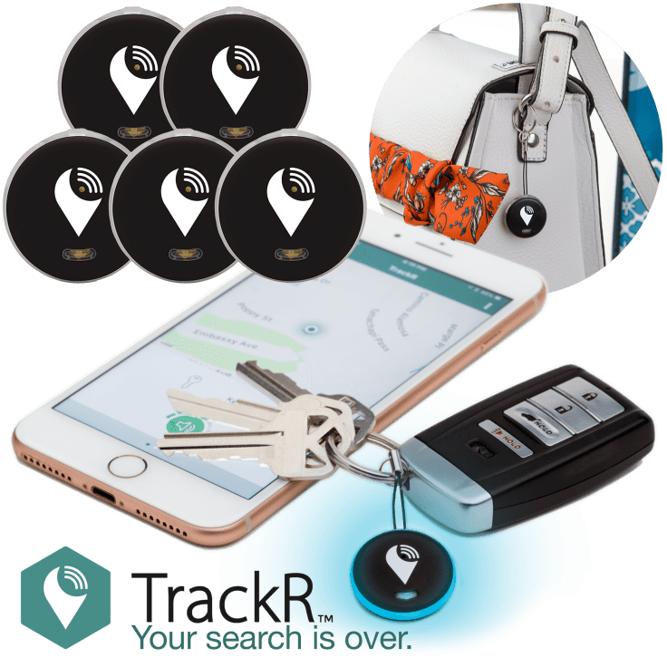 5-Pack TrackR Pixel Bluetooth Tracking Devices with Extra BONUS Batteries