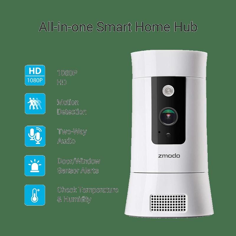 Zmodo Pivot Cloud 350° Rotating Smart WiFi Camera with Door
