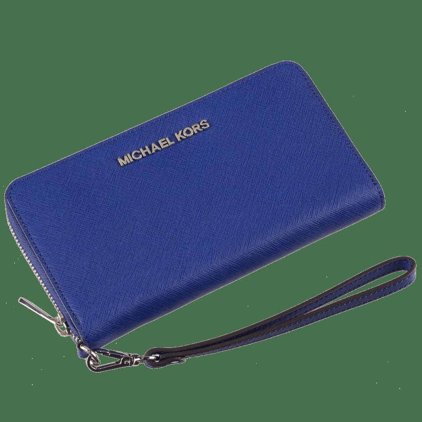 d90159a56e8a Michael Kors Essential Large Multifunction Wallet Sapphire Saffiano