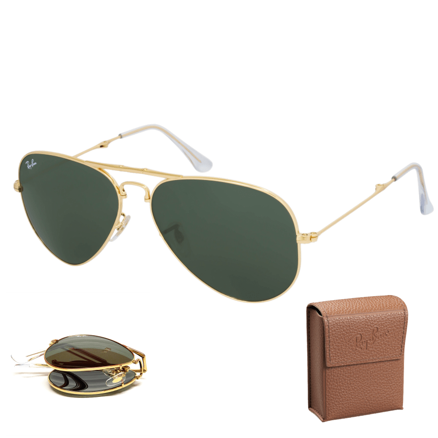 ed284b92e2b Ray-Ban RB3479 Folding Gold Frame Aviators