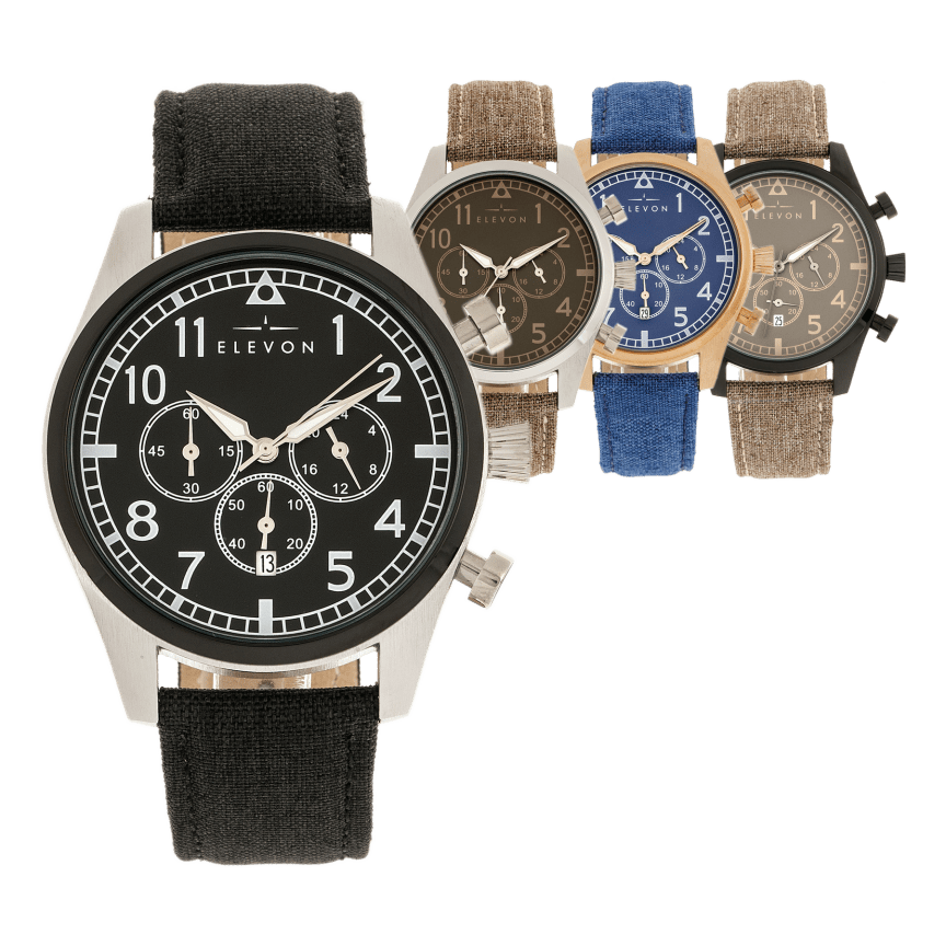 ee4862fcd Elevon Curtiss Leather Band Chronograph Watches