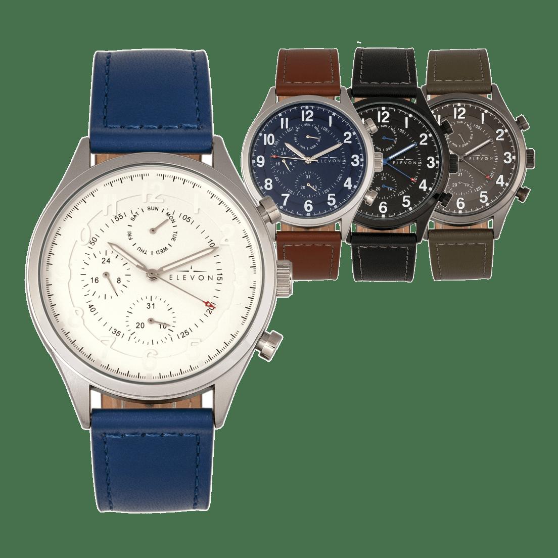 4b348f028 Elevon Lindberg Leather Band Watches