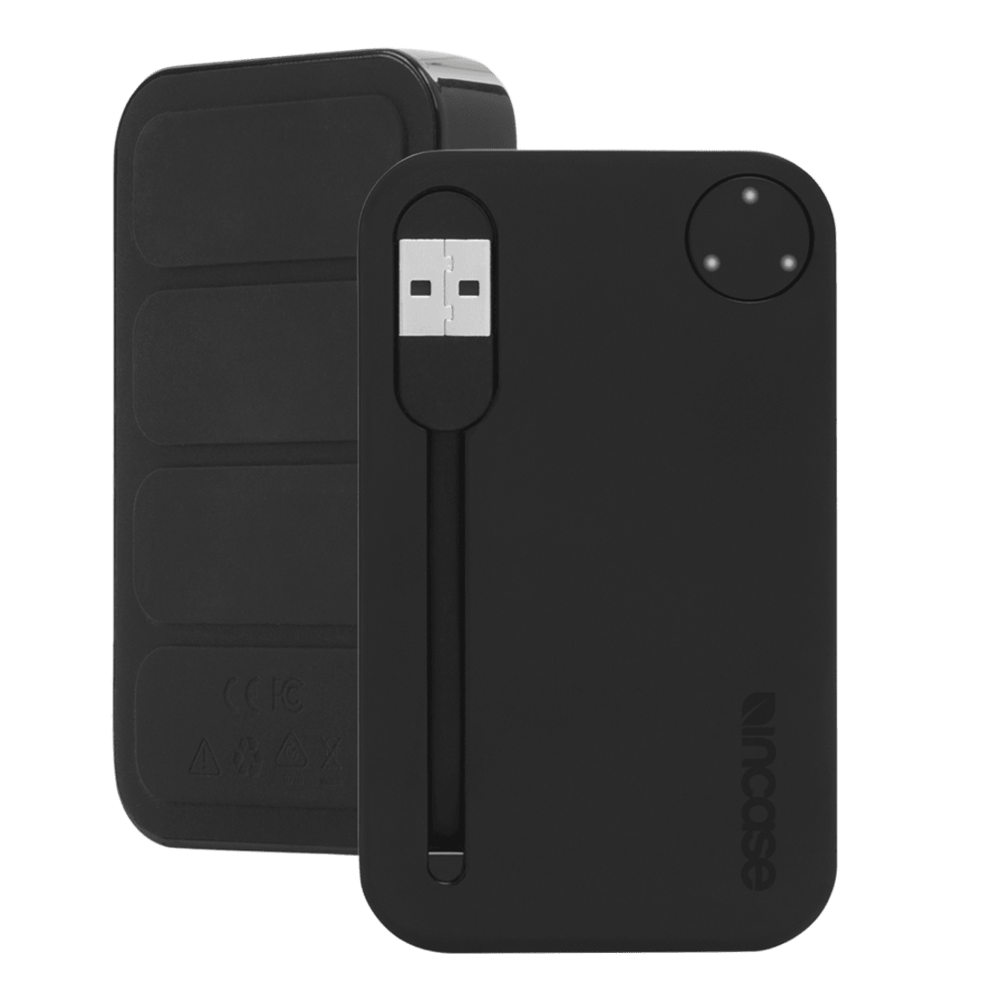 the best attitude 58bbc 13300 2-Pack: Incase 2500mAh Portable Power Bank with Integrated USB Cable