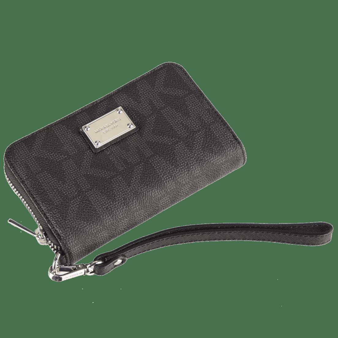 94c78bdc8c91 Michael Kors Essential Zip Wallet Gray Monogram