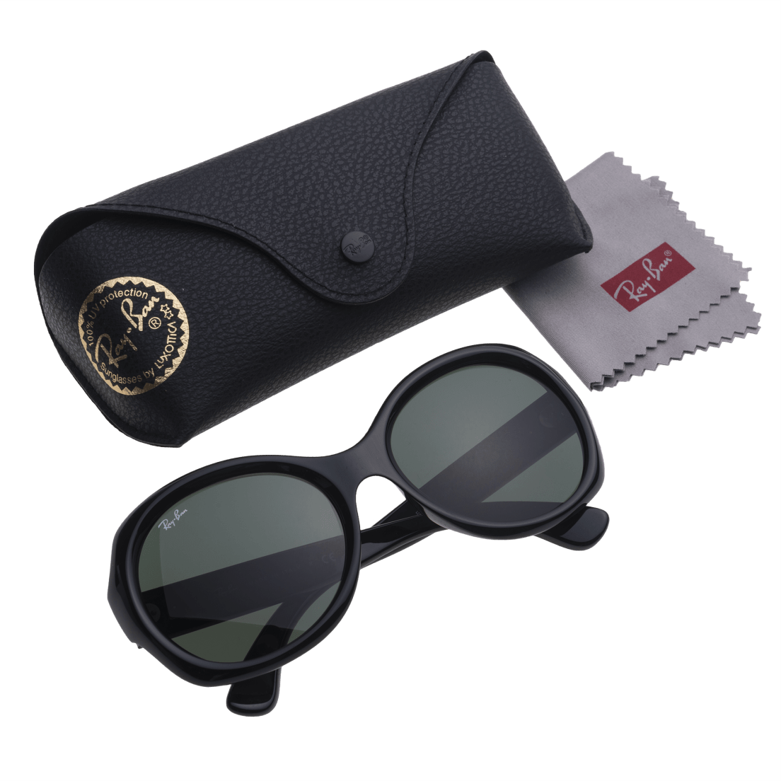 c8f9b2aae6432 Ray-Ban RB4191 Sunglasses with Black Frame   Green Classic Lenses