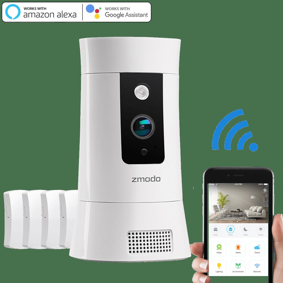 Zmodo Pivot Cloud 350° Rotating Smart WiFi Camera with Door/Window