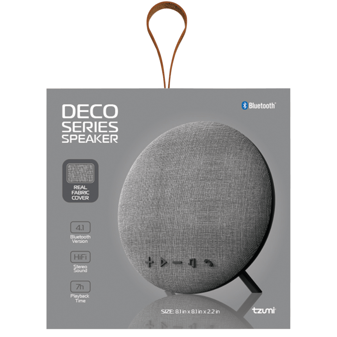 Portable Audio & Headphones Audio Docks & Mini Speakers Large Wireless Bluetooth Fabric Speaker Sporting Deco Series Speaker By Tzumi