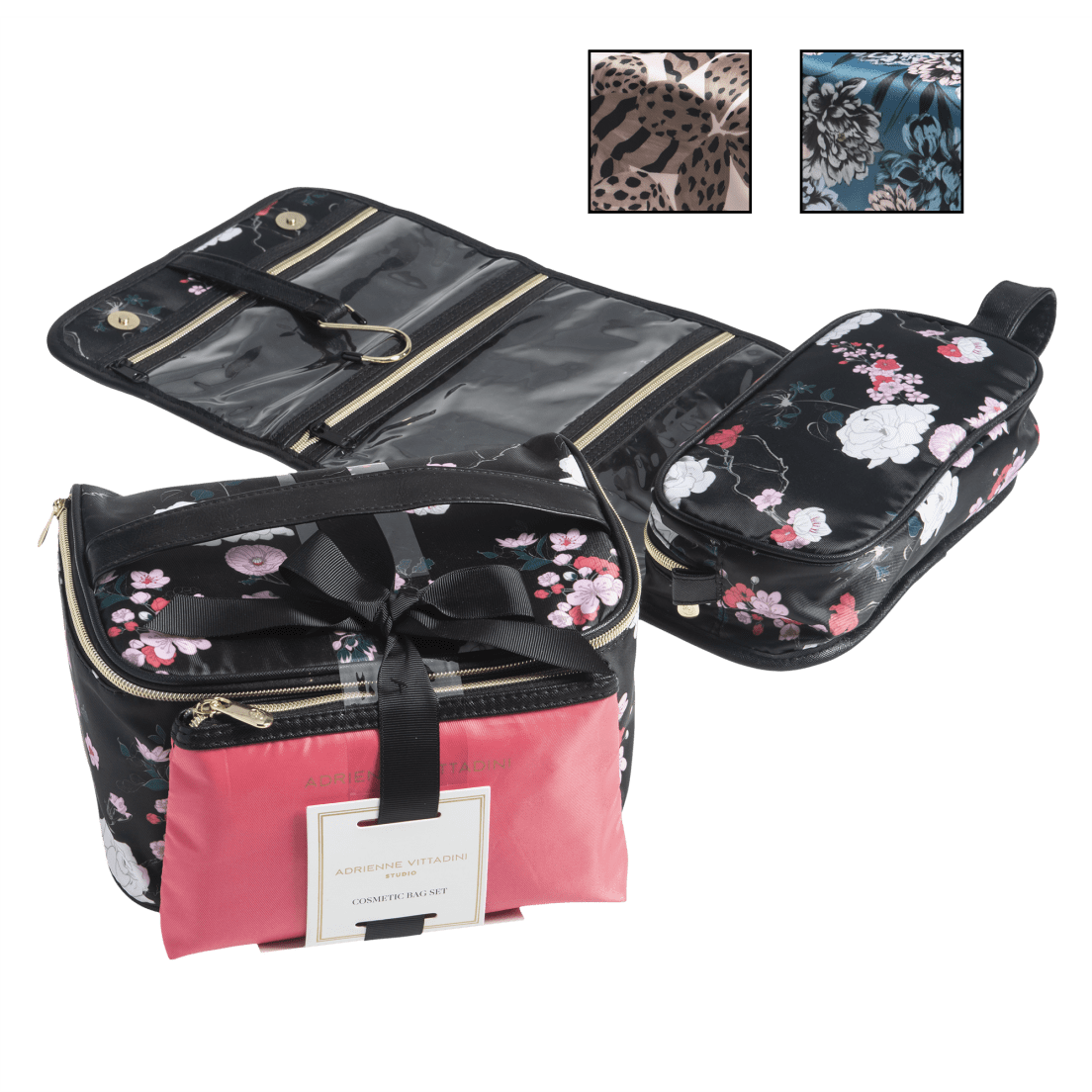83362bad10a5 Adrienne Vittadini 3-Piece Cosmetic Travel Bag Set