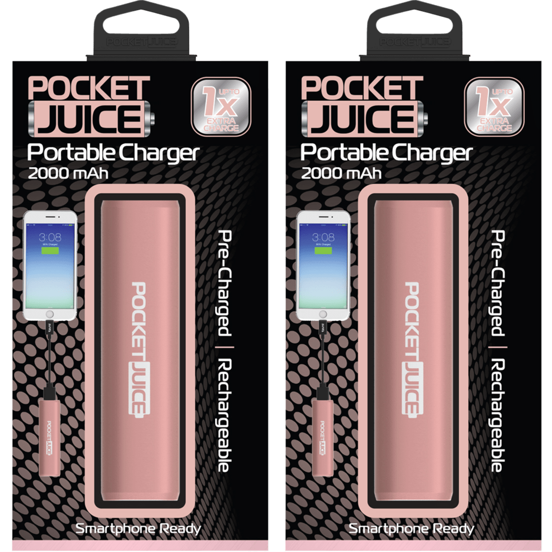 2-Pack: Tzumi Pocket Juice 2000mAh Solo Pocket Battery