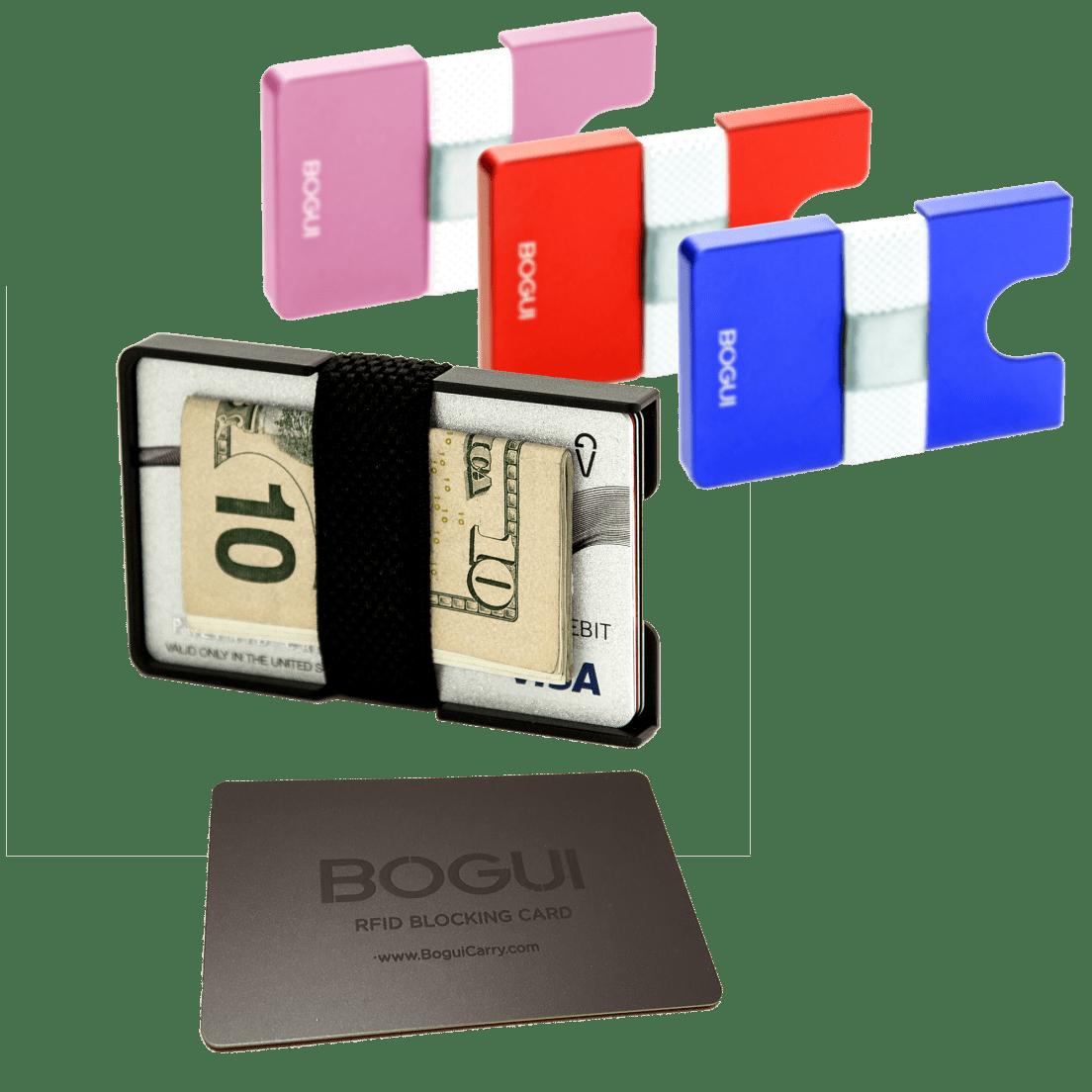 17d3cfa3bb6c BOGUI Slip Premium Aluminum Wallet with RFID Blocking Card