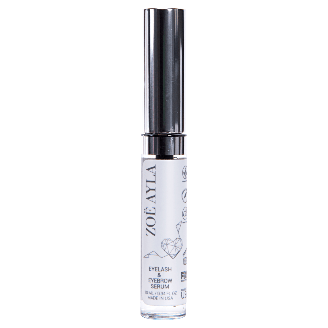 88025866689 Zoe Ayla Premium Eyelash and Brow Growth Serum