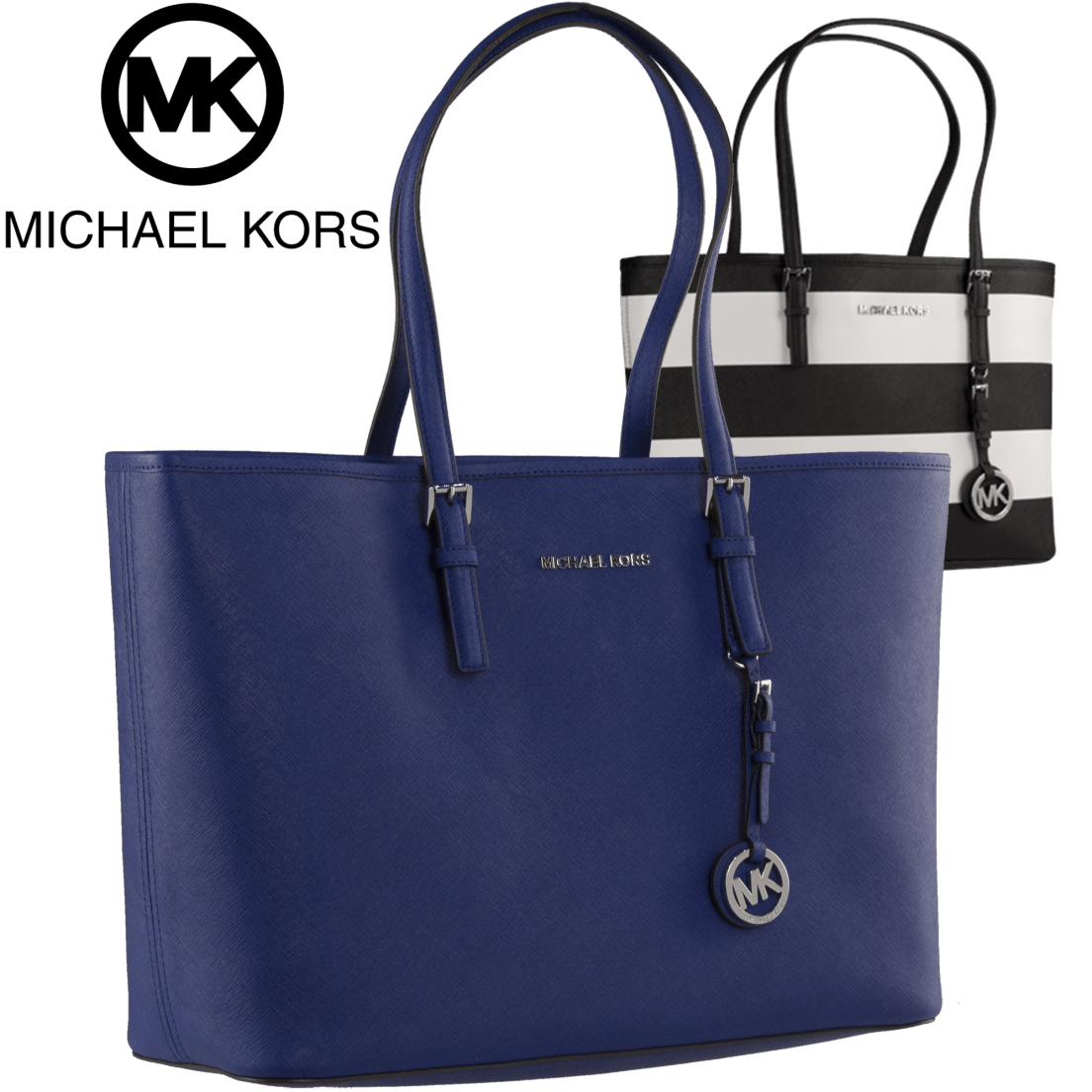 4c0197f8dfc2 Michael Kors Jet Set Travel Medium Saffiano Leather Top-Zip Tote