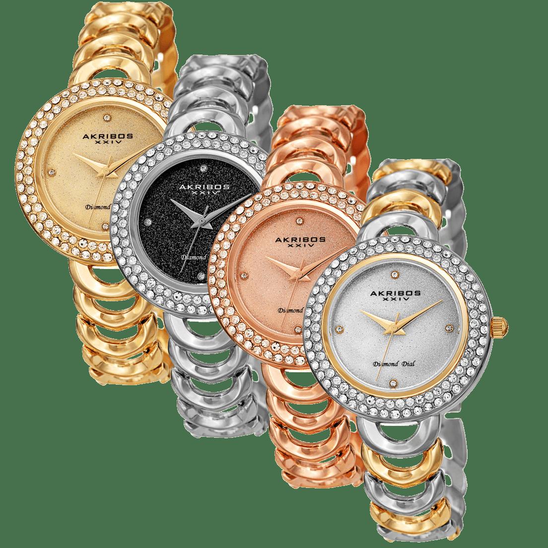 5ff6ff1b4147 Akribos XXIV AK1050 Women s Diamond   Swarovski Crystal Watch