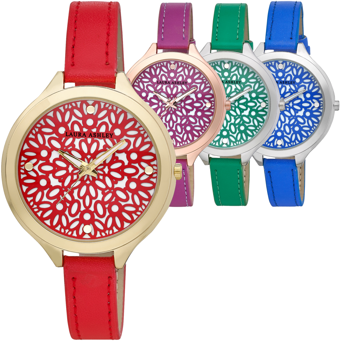 4584d38aad79 Laura Ashley Floral Pattern Watches