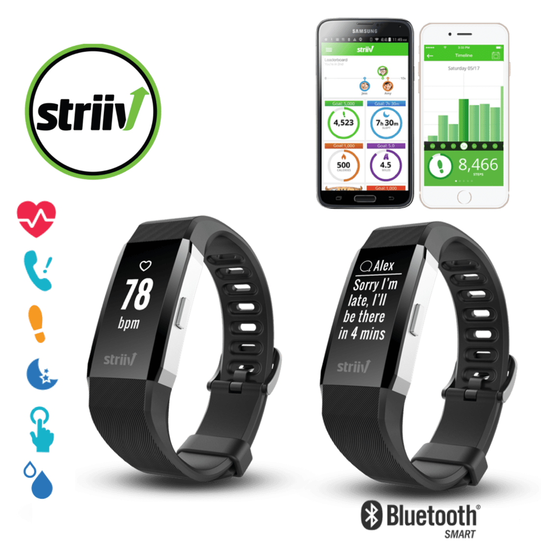 Striiv Apex HR Fitness Smartwatch with Continuous Heart Rate