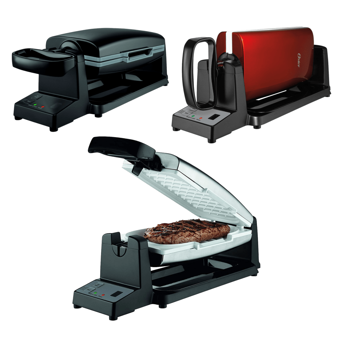 Oster 7-Minute Grill with DuraCeramic Coating and Digital Timer