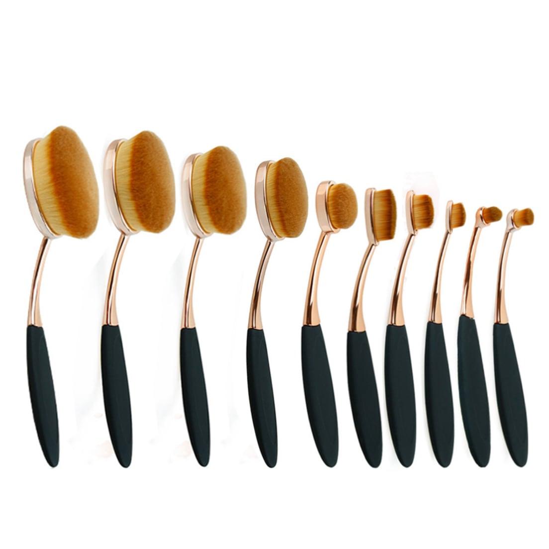 7edaf5b097c2 Zoë Ayla 10-Piece Professional Oval Makeup Brush Set