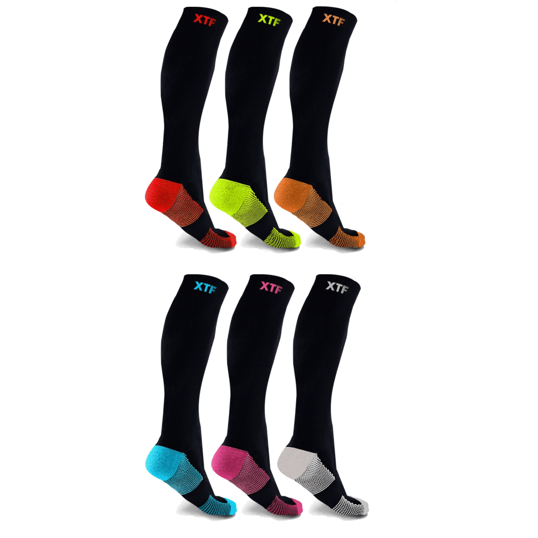 88f4e991bb 6-Pack: XTF Copper-Infused Compression Socks