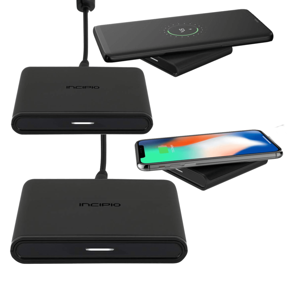 Pre-Owned Incipio Ghost100 Wireless Qi Charging Pad Black PW-150