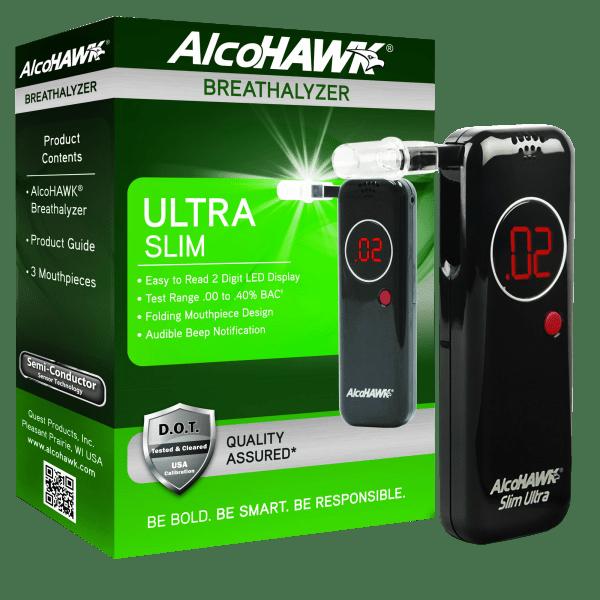 AlcoHAWK Ultra Slim Digital Breathalyzer
