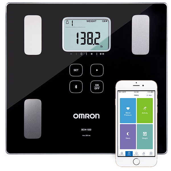 Omron Body Composition Monitor and Scale with Bluetooth Connectivity and App
