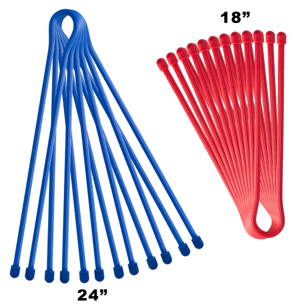 6 or 10-Pack: Reusable Gear Ties