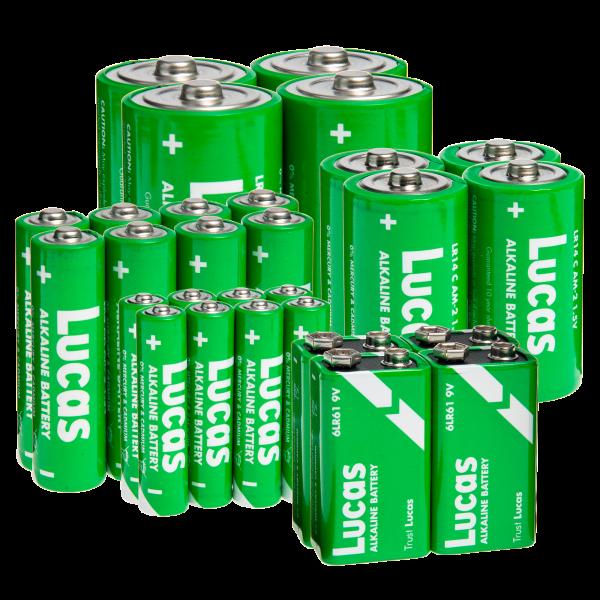 28-pack: Lucas Alkaline Battery Bundle