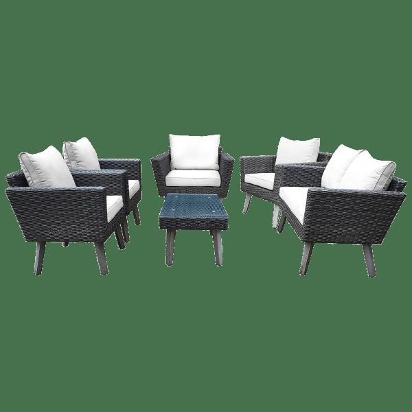 Dukap KOTKA 6 Piece Sofa Seating Set With Cushions