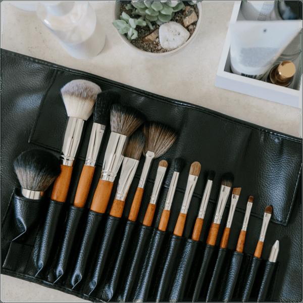 Vanity Planet 15 Piece Makeup Brush Set With Storage Case