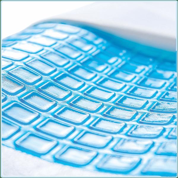 2 pack pharmedoc memory foam pillow with cooling gel top