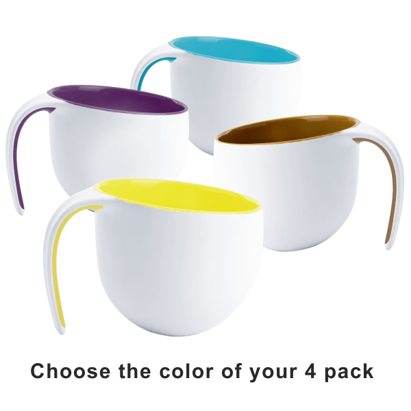 "4-Pack: Asobu 14oz Porcelain ""Jewel"" Mugs"