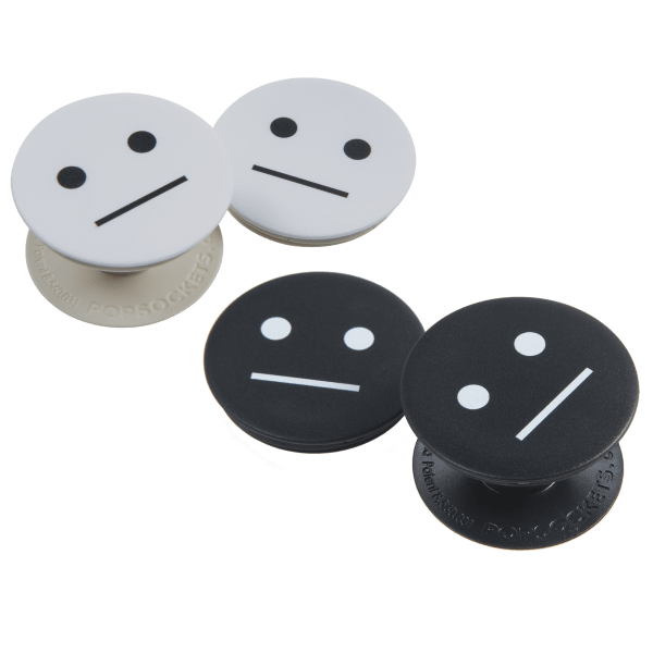 2-Pack: Black or White Meh Face PopSockets