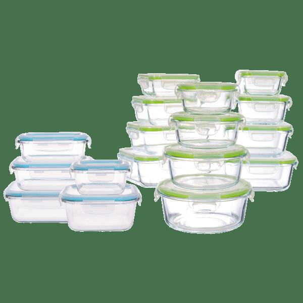 Genicook 5-Pack or 12-Pack Borosilicate Glass Food Storage Sets