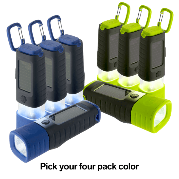 4-pack: Crank / Solar LED Flashlight/Lanterns