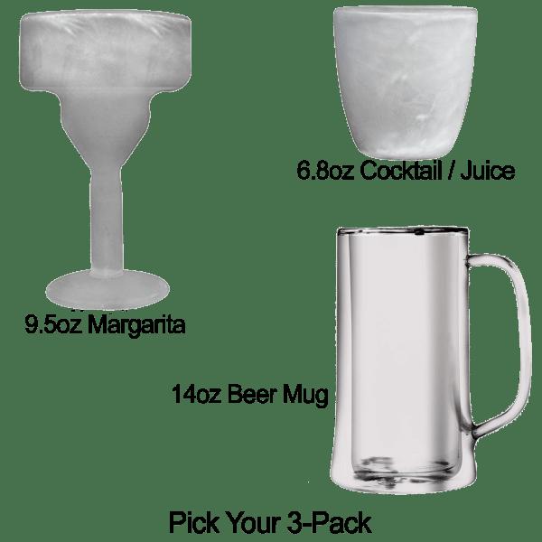 3-Pack: Freeze Glasses