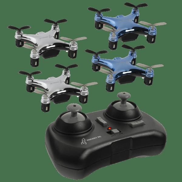 4-Pack: Rocket RC Micro Drones