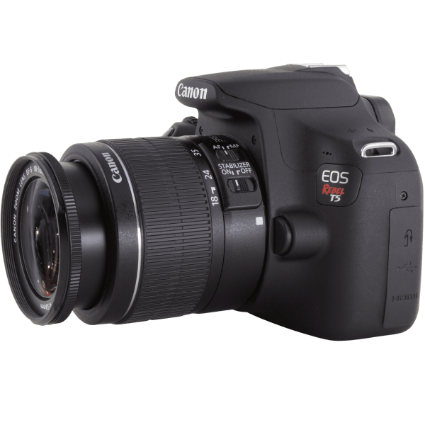 Canon Eos Rebel T5 Dslr With Ef S 18 55mm Lens