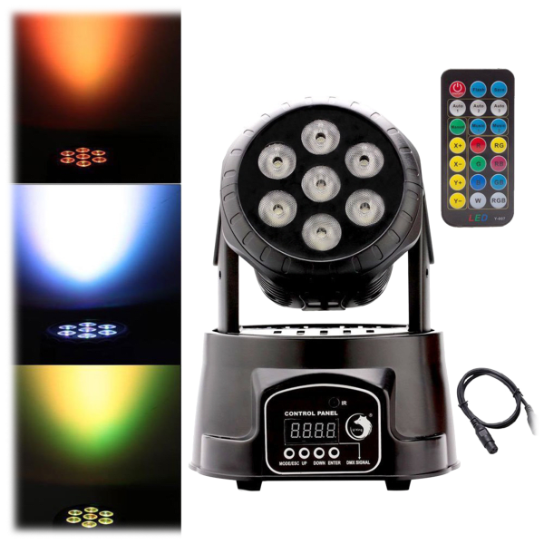 U' King Moving Head Stage Lighting RGBW 7 LED X 10W for DJs & Parties