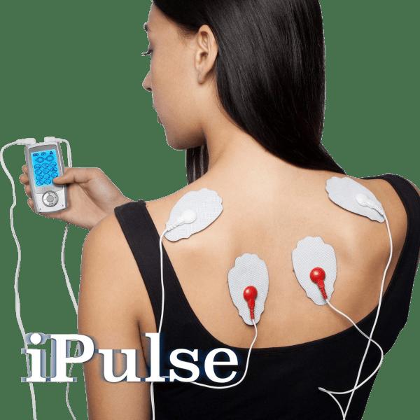 iPulse 12-Channel TENS + EMS Stimulation Unit with 10 Pads