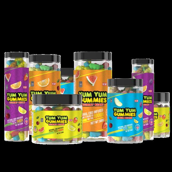 CBD Gummy Bears (Regular or Sour)
