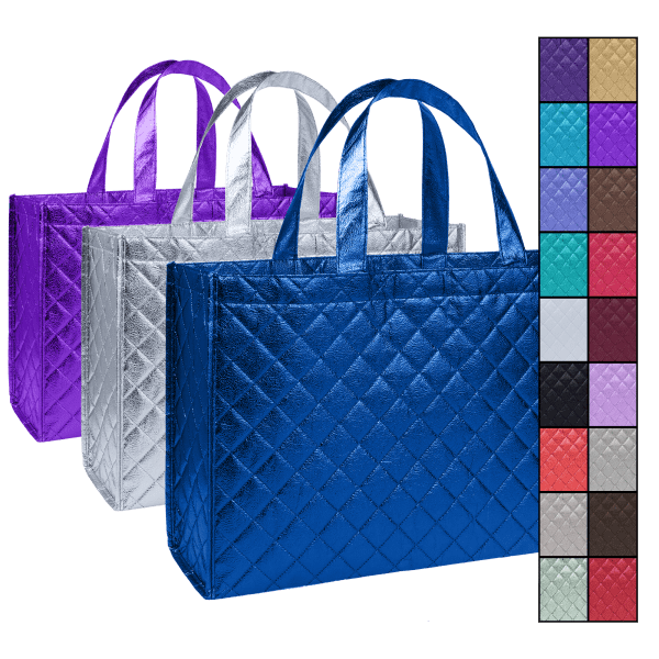 3-Pack: Quilted Tote Bags
