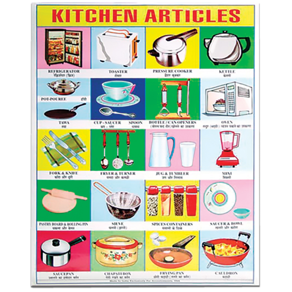 Kitchen Articles English to Hindi Translation Poster