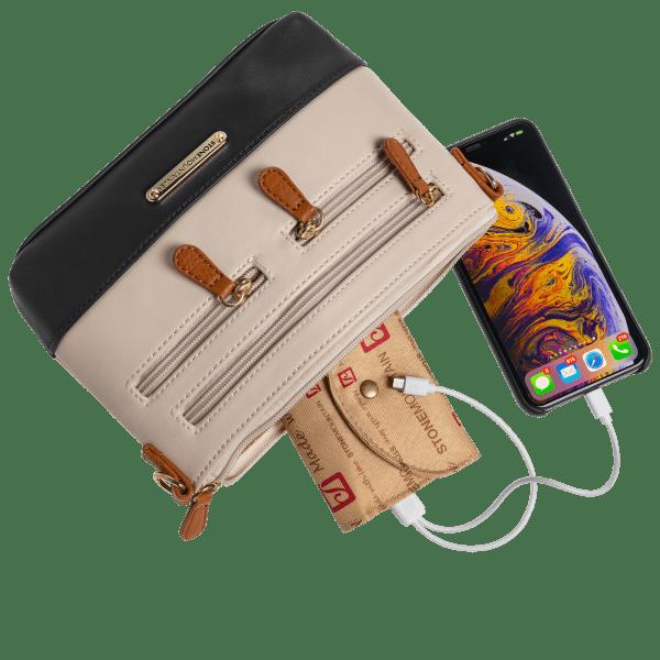 Stone Mountain Genuine Leather Charging Handbag