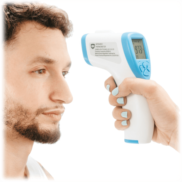 Mask on Every Face Non-Contact Infrared Forehead Thermometer