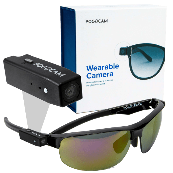 PogoCam Wearable HD Camera with 100% UV PogoTrack Magnetic Sunglasses