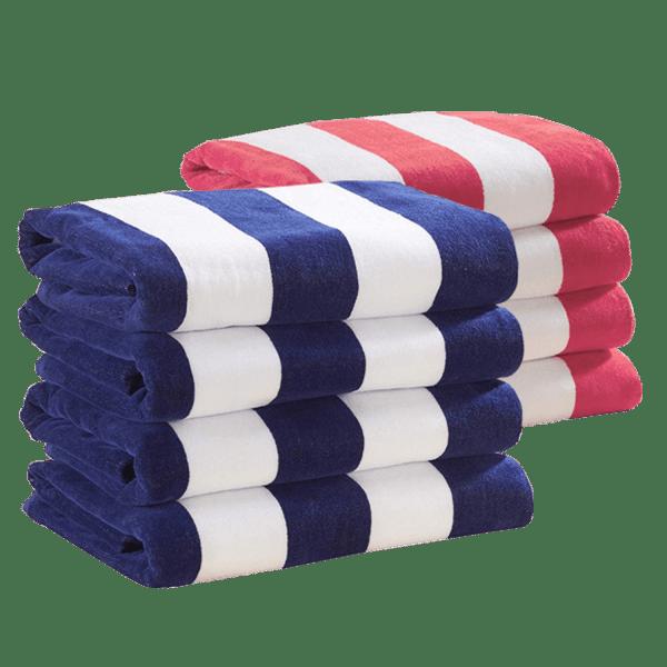 "4-Pack: Cabana Stripe 30"" x 60"" Beach Towels"